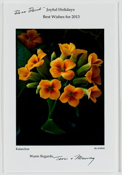 """Kalanchoe (2012 Holiday Greeting Card),"" Photo signed by Teri & Murray Weiss"