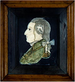 """George Washington Portrait Wax,"" Painted Wax Relief signed by George Rouse"