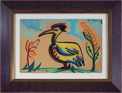 """Long Beaked Bird"" original signed pastel drawing by Sylvia Spicuzza"