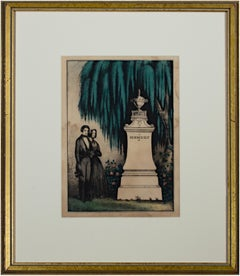 'In Memory of (66)' original Kellogg & Comstock hand-colored mourning lithograph
