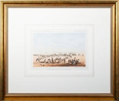 'Distribution of Goods to the Assiniboines' original John Mix Stanley lithograph