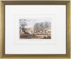 'Distribution of Goods to the Gros Ventres' lithograph by John Mix Stanley