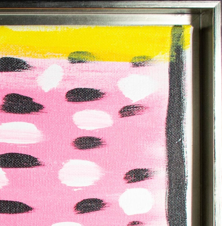 'Organic Banana Smoothie' original signed acrylic painting  - Abstract Painting by Ariel McClearin