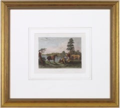 'Scene on the Wabush' original engraving by Wellstood & Kirk Pottawatomi