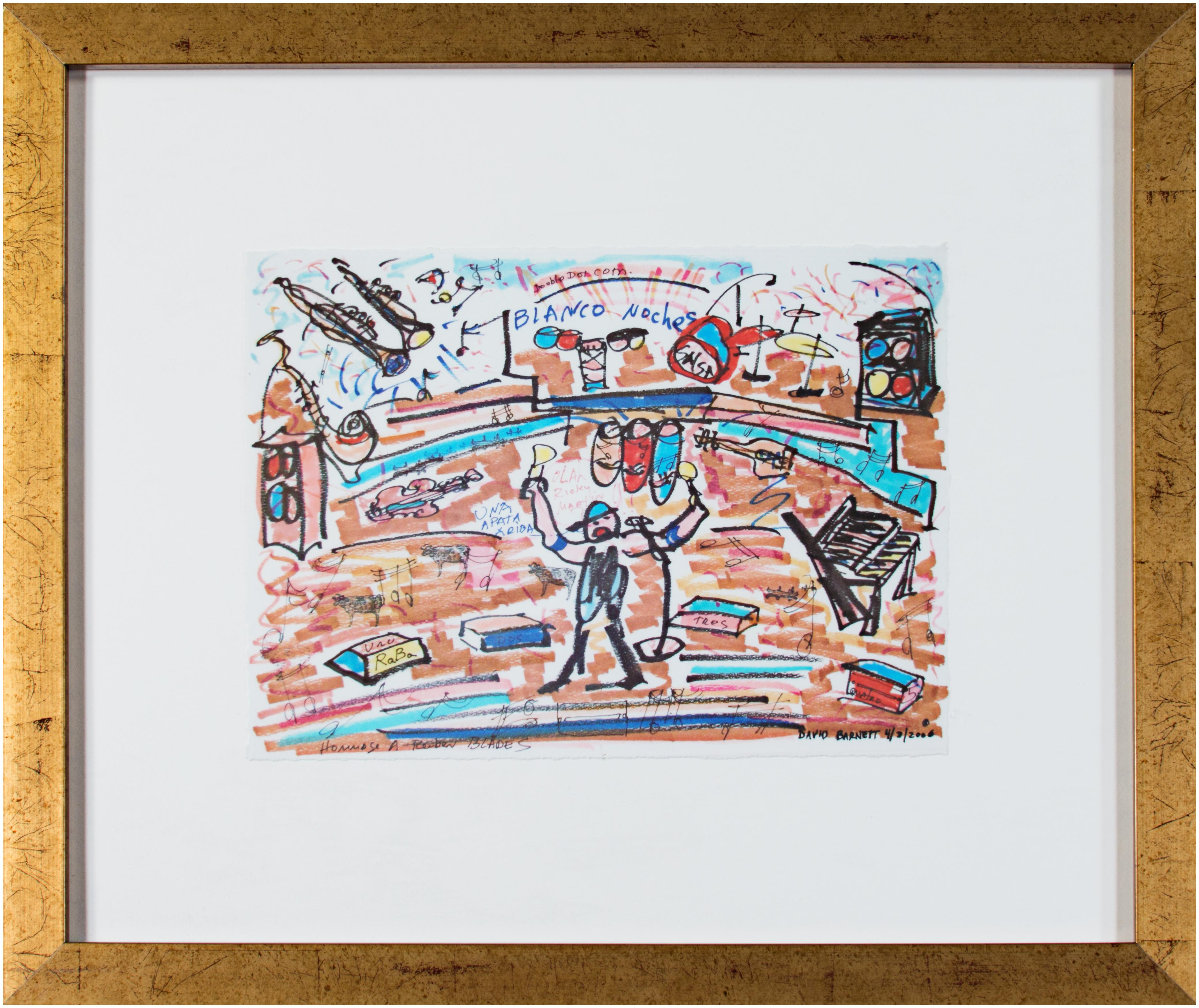'Homage to Ruben Blades' giclée print on watercolor paper after 2000 color ink