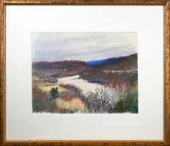 'Study for Connecticut at Putney' original pastel drawing signed by Wolf Kahn