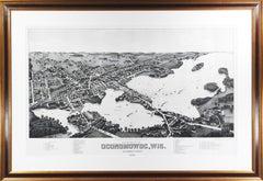 'View of the City of Oconomowoc, Wis.' giclée after 1885 original lithograph