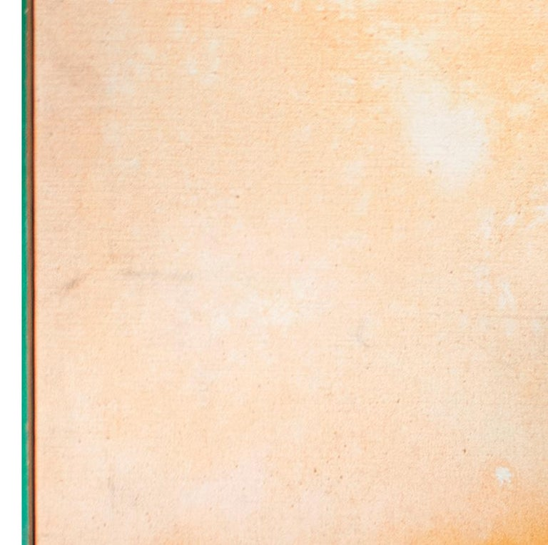 'Peach Stoned' mixed media painting peach abstract expressionist - Painting by John Colt