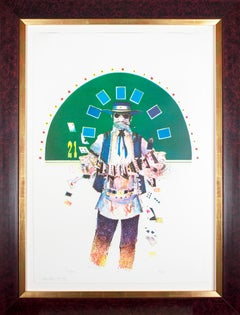 'The Dealer' original signed color lithograph from the Gambler Series