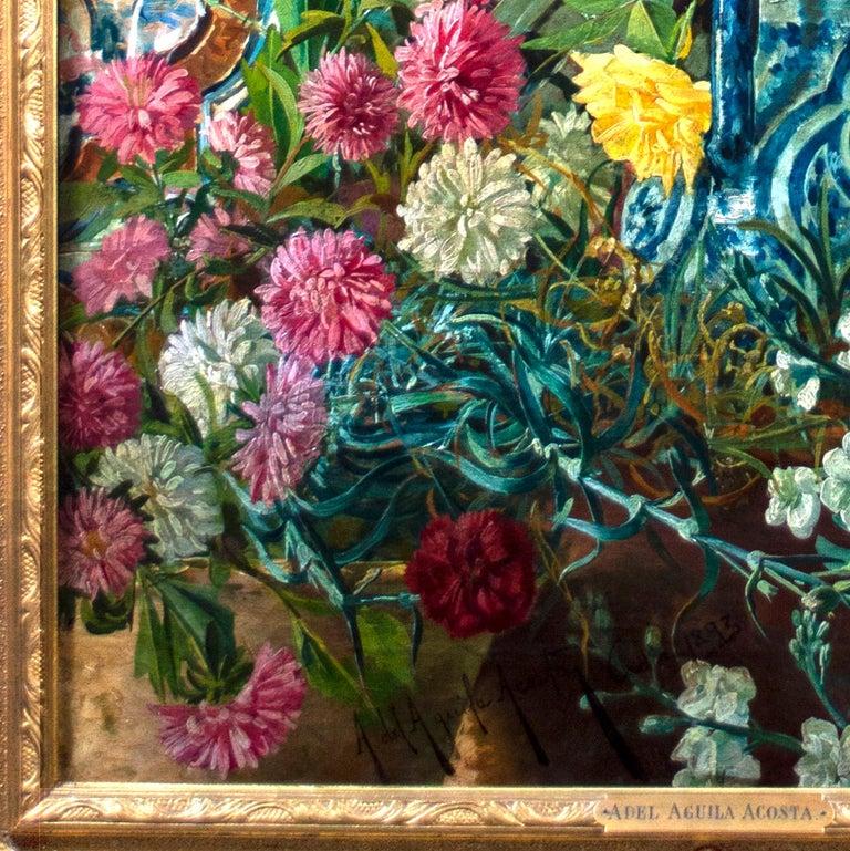 'Spanish Beauty at a Garden Window' by Adolfo del Águila y Acosta, orientalism For Sale 7