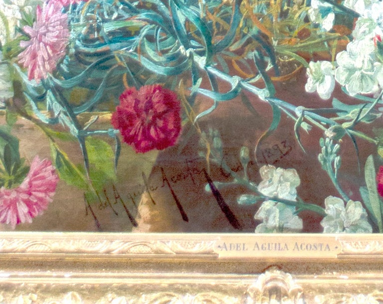 'Spanish Beauty at a Garden Window' by Adolfo del Águila y Acosta, orientalism For Sale 3