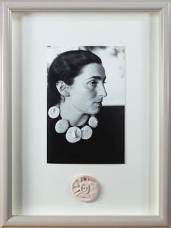 Picasso Ceramics Exhibition 2012-13 Invitation with pendant by Joan Dvorsky