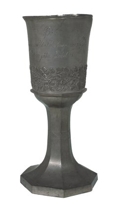 Pewter Goblet with Oak Leaves and Acorns, 1886 Jubilee Inscription