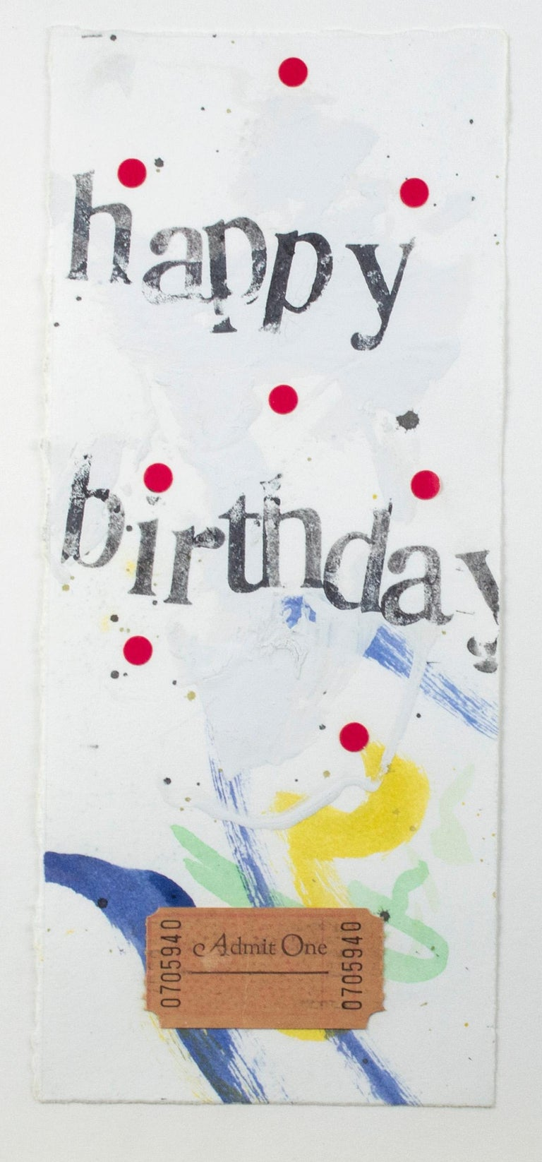 Set of four original collages, 'Happy Birthday' cards by Joel Jaecks For Sale 2