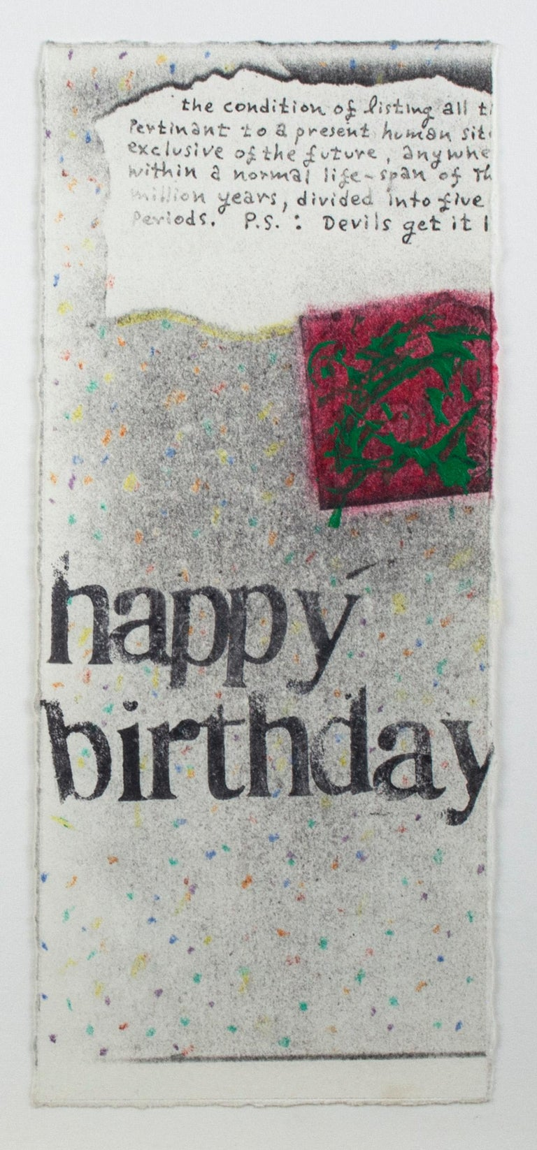 Set of four original collages, 'Happy Birthday' cards by Joel Jaecks For Sale 3