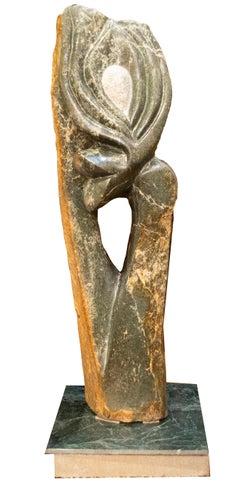 'Ring of Hope' original signed Shona stone sculpture by Wonder Mazhindu Bumhira