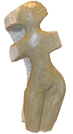 'Proud Woman' original Shona stone sculpture by Chenjerai Chiripanyanga