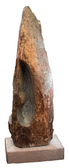 'Scratching Bird' Shona stone sculpture signed by Chenjerai Chiripanyanga