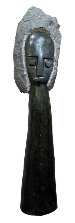 'African Queen' Shona stone sculpture signed by Chenjerai Chiripanyanga