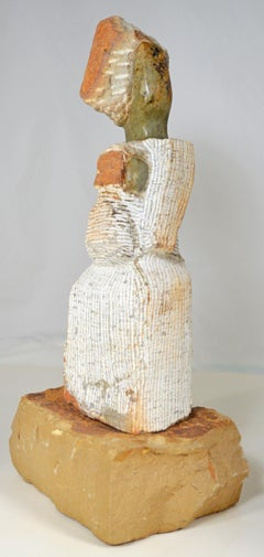 'Mother and Child' original Shona stone sculpture signed by Samuel Likongwe