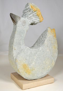'Bird Chicken' original Shona stone sculpture signed by Samuel Likongwe
