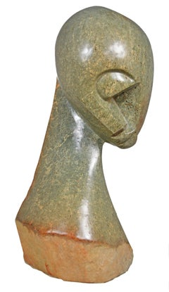 'Eye Witness' original Shona stone sculpture signed by Josphat Makenzi