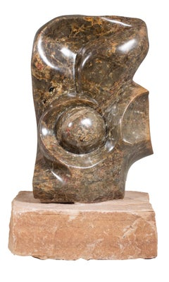 'Flower' original stone Shona sculpture signed by Benjamin Mundara