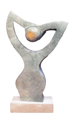 'Meditation' original Shona stone sculpture signed by Dudzai Mushawepwere