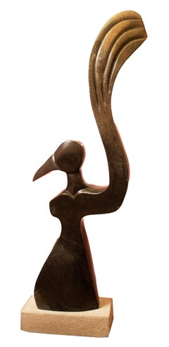 'Hope' original Shona stone sculpture signed by Dudzai Mushawepwere