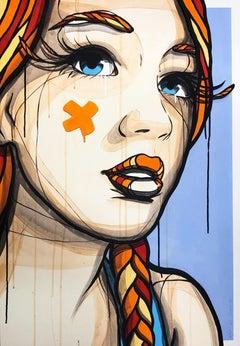 Portrait of a Girl - (Urban Art, Street Art, Berlin) - FLASH SALE until 5-16-21