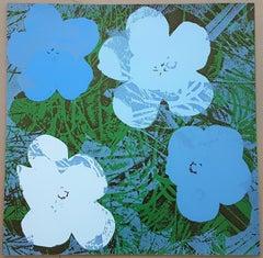 Flowers (Blue Hues - Pop Art)