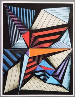 Geometric Composition #1 (3D-construction, Op Art, Lyonel Feininger)