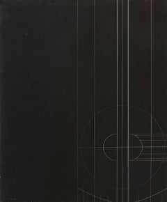 Untitled Geometric Abstraction (Black) - Design for a Sculpture