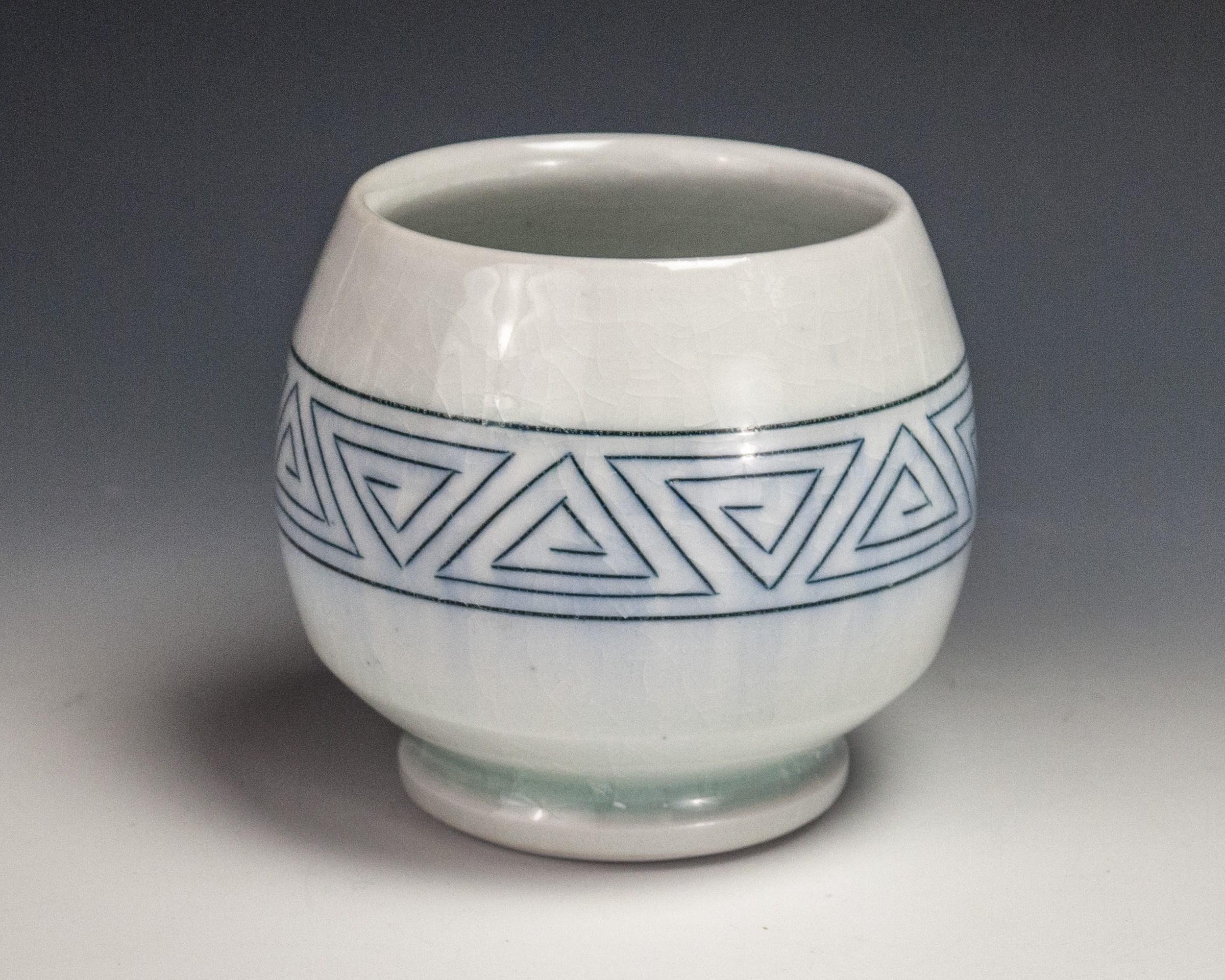 Sgraffito Triangle Cup