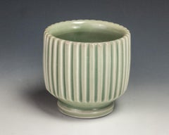 Carved Green Cup
