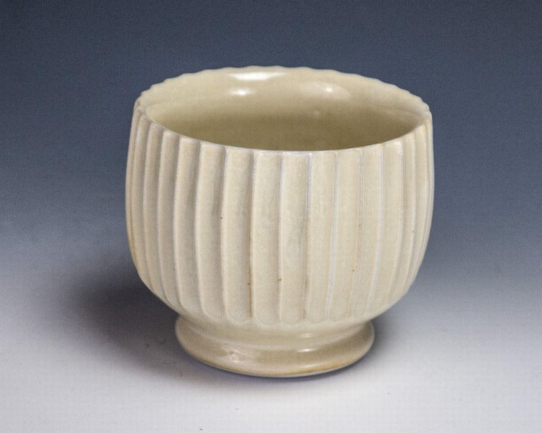 Carved Yellow Cup - Art by Steven Young Lee