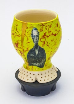 Lithograph printed cup with stand