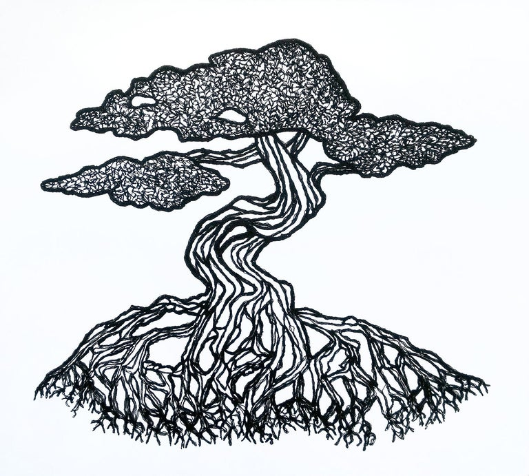 Bonsai No 2 - Mixed Media Art by Rachelle Gardner-Roe