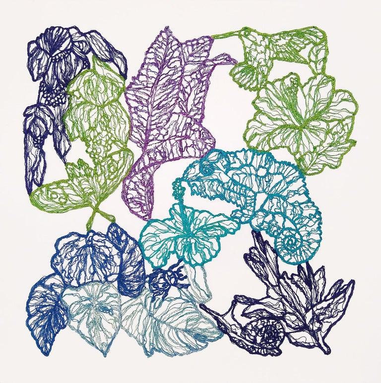 Memory Stratum No 4 Jungle Postcards  - Mixed Media Art by Rachelle Gardner-Roe