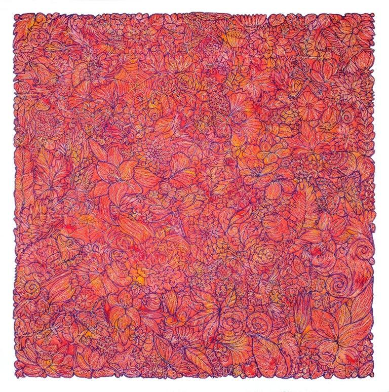 Mind's Window No3 (Sunset) - Mixed Media Art by Rachelle Gardner-Roe