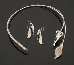 Calla Lily Neck-piece (Shown with Earrings)