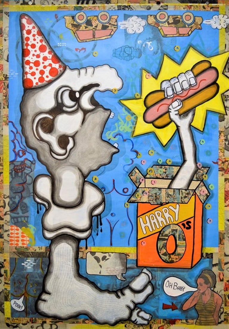 Jolynn Reigeluth Figurative Art - He's Got Good Hot Dogs