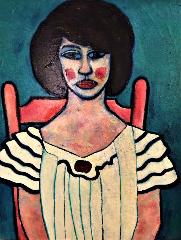 Daniel Brennan Portrait Painting - Girl in White