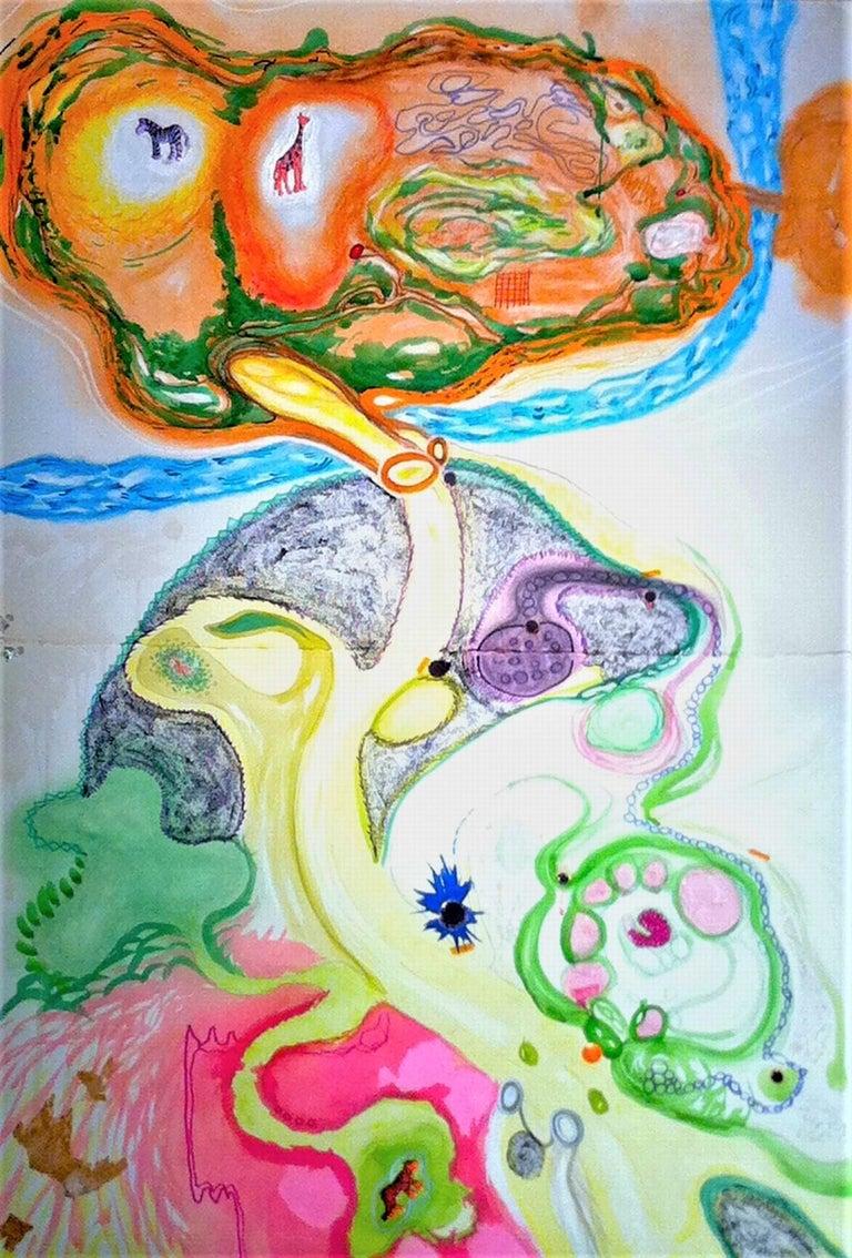 Biogram of the Kansas City Zoo - Mixed Media Art by Kory Twaddle
