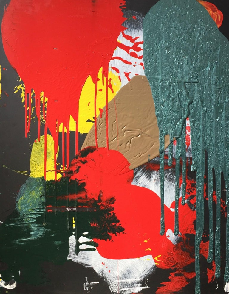 Kory Twaddle Abstract Painting - Poetry Cell Mitosis Library