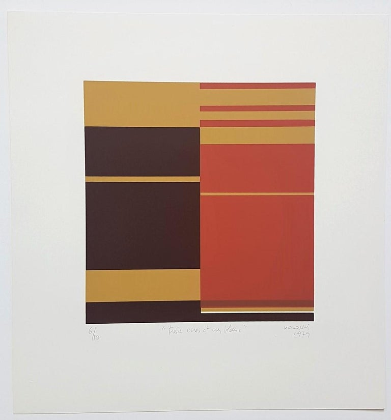 Marie Therese Vacossin Landscape Print - Geometric Composition