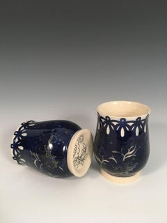 Cobalt Whiskey Cups
