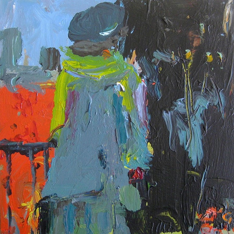 Rita Guile Abstract Painting - Woman In The City