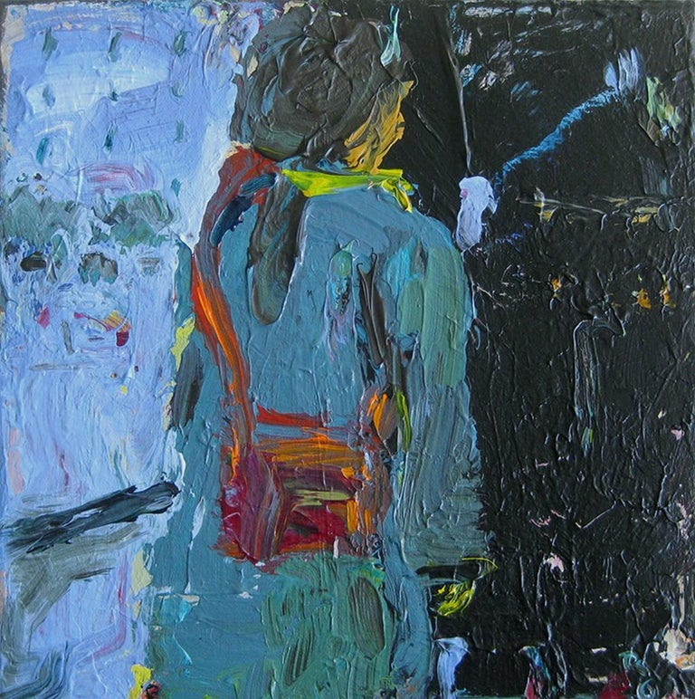 Rita Guile Figurative Painting - Woman With Purse