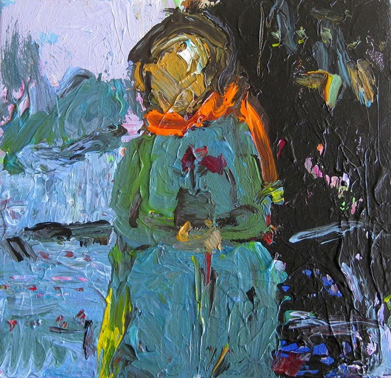 Woman With Flower - Painting by Rita Guile